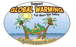 Global Warming Hot Sauce Logo