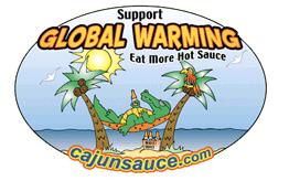 Global Warming Hot Sauce Logo